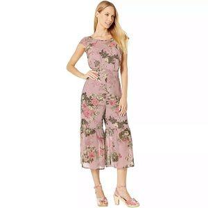 BCBGeneration Cap Sleeve Culotte Floral Jumpsuit